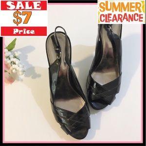 Alfani Black Peep Toe Heel